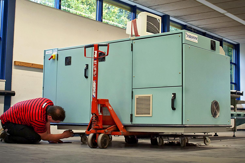 machines verhuizen uts van hoek grote apparatuur veiligheid